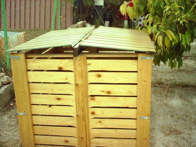 C mo construir un compostador o compostero con palets - Como hacer una caseta de madera para el jardin ...