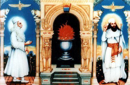 zaratustra fuego altar persa
